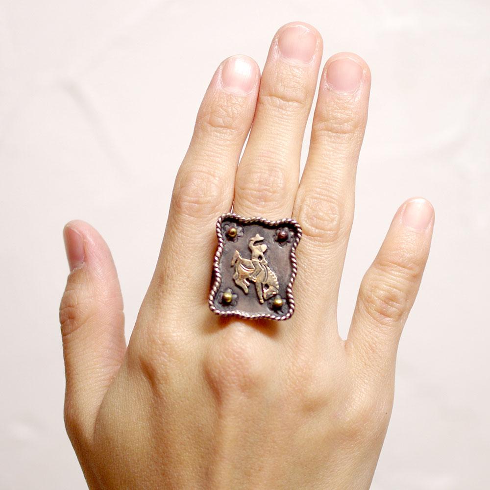 アクセサリー メキシカンジュエリー リング ロデオ 闘牛 ハンドメイド 手作り プレゼント 可愛い カワイイ 指輪