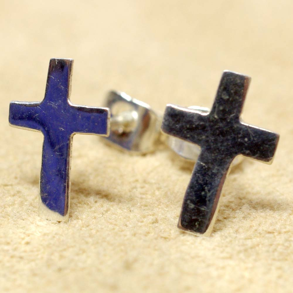 メキシコ アクセサリー メキシカンジュエリー ピアス シルバー925 メキシカンシルバー クロスピアス 十字架ピアス キリスト