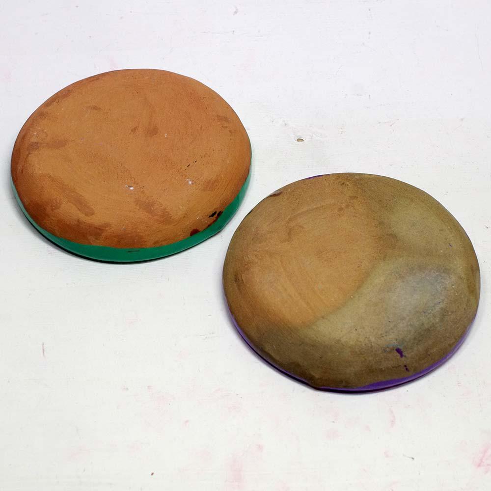 メキシコ雑貨 メキシコ プレゼント ギフト 手作り 花柄 素焼き 灰皿 アシュトレイ アッシュトレー ジュエリートレー 小物入れ トレー