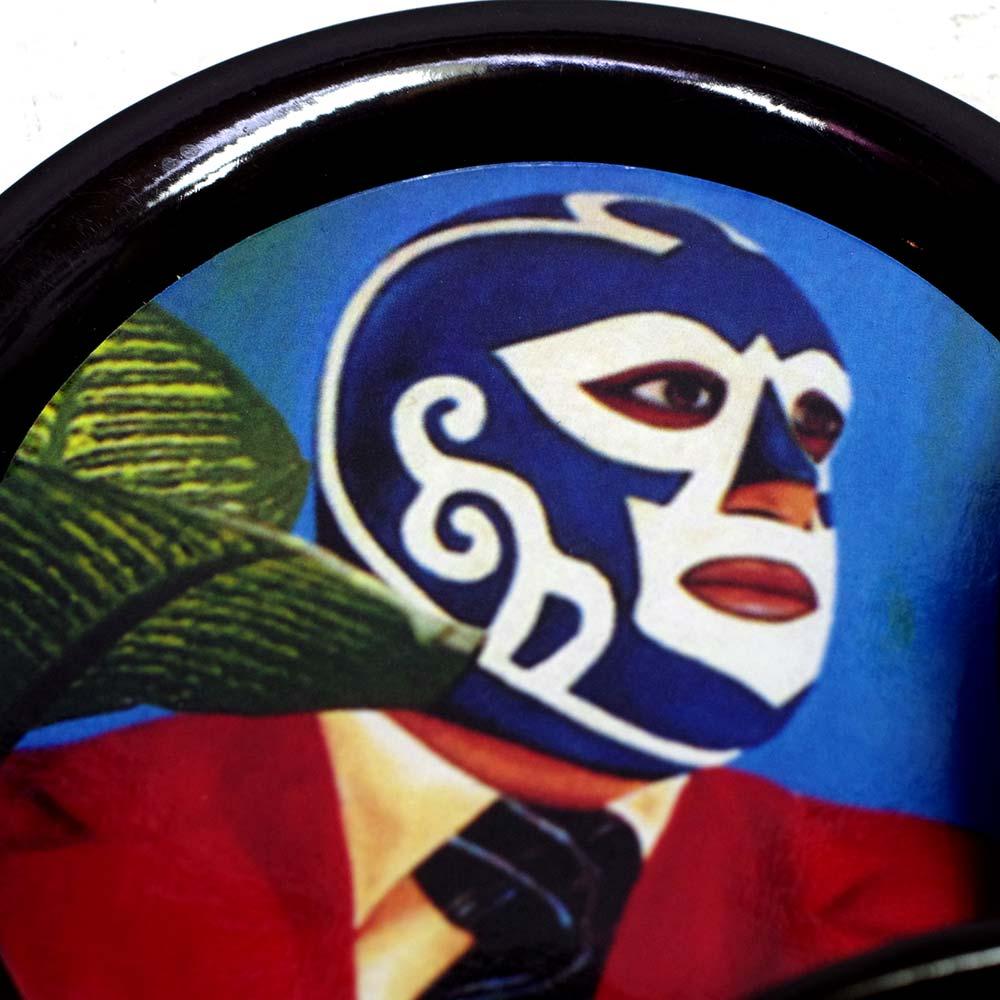メキシコ雑貨 メキシコ プレゼント ギフト 手作り コースター ビール ジュエリートレー 小物入れ トレー ルチャリブレ
