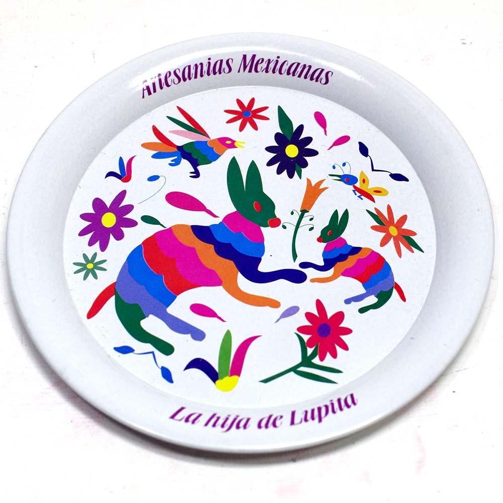 メキシコ雑貨 メキシコ プレゼント ギフト 手作り コースター ビール ジュエリートレー 小物入れ トレー オトミ