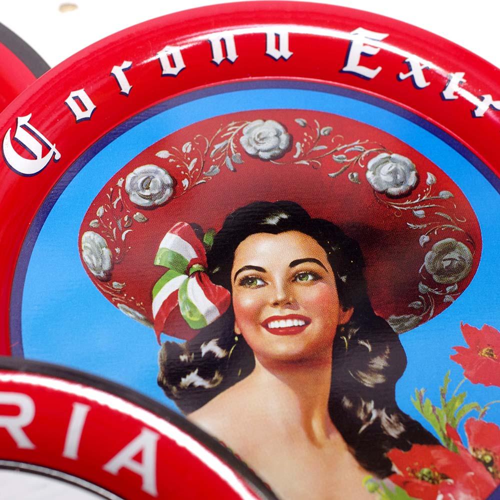 メキシコ雑貨 メキシコ プレゼント ギフト 手作り コースター ビール ジュエリートレー 小物入れ トレー コロナ メヒカーナ