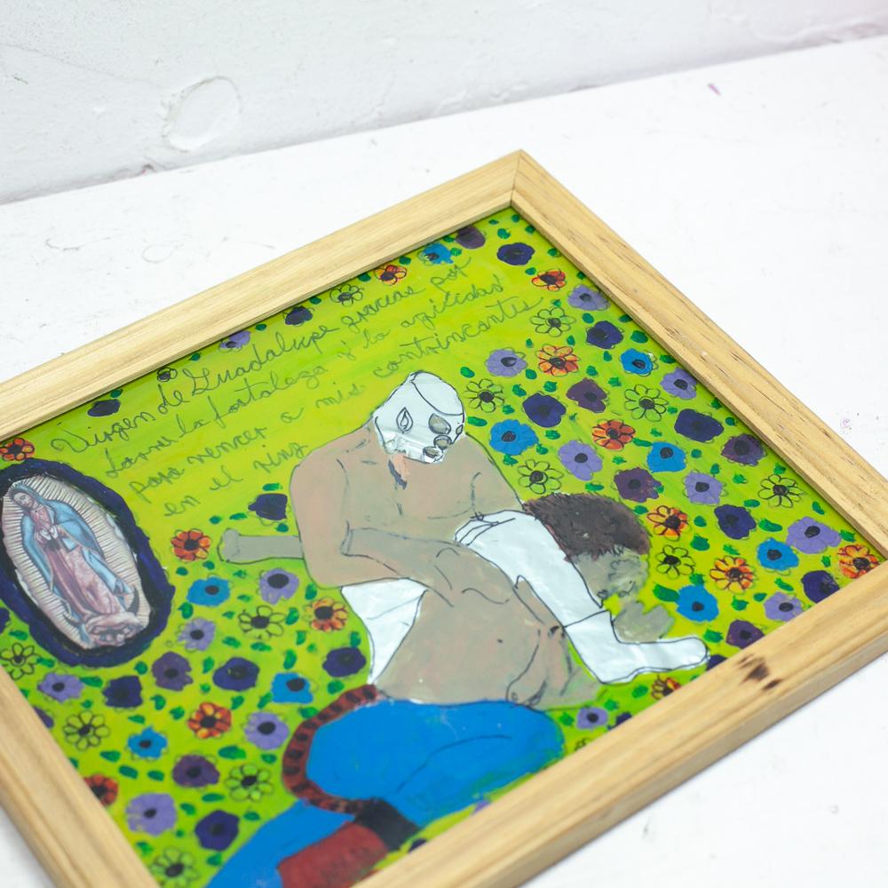 メキシコ アンティーク ビンテージ インテリア 壁掛け 壁飾り マリア ポスター 絵画 アート ストリートアート マヌエル