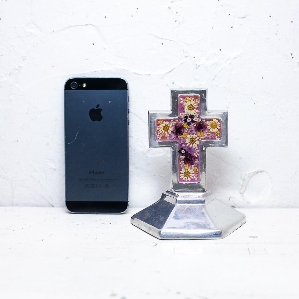 メキシコ メキシコ雑貨 メキシコ雑貨PAD メキシカンスカル 1点物 クロス 十字架 小物入れ 生花入り アクセサリートレイ アクセサリーケース ギフトボックス プレゼント ジュエリーケース