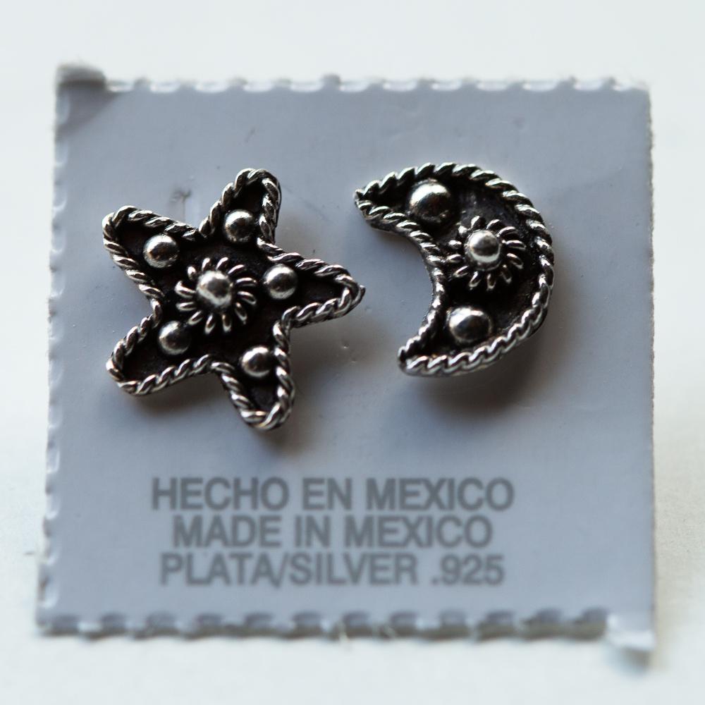 メキシコ アクセサリー ジュエリー メキシカンジュエリー メキシコアクセサリー ピアス シルバー925 メキシカンシルバー 月 ピアス ミラグロ 手 幸運をつかむ お守りアクセ お守り ハートモチーフ