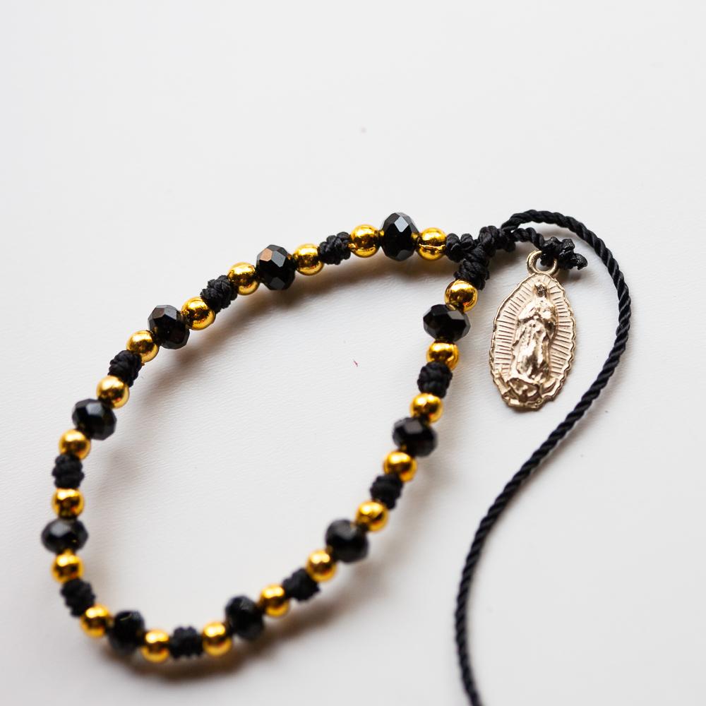 メキシコ アクセサリー PAD ブレスレット ミサンガ チャームブレス クロス メダイ 聖ベネディクト  十字架 キラキラ 可愛い レトロ