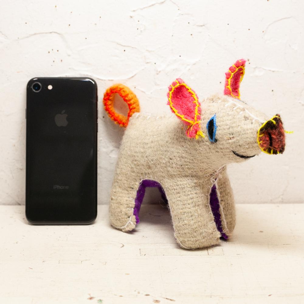 """""""メキシコ,インテリア,アニマリート,ウールのぬいぐるみ,メキシコのぬいぐるみ,チアパス州人形,置物"""