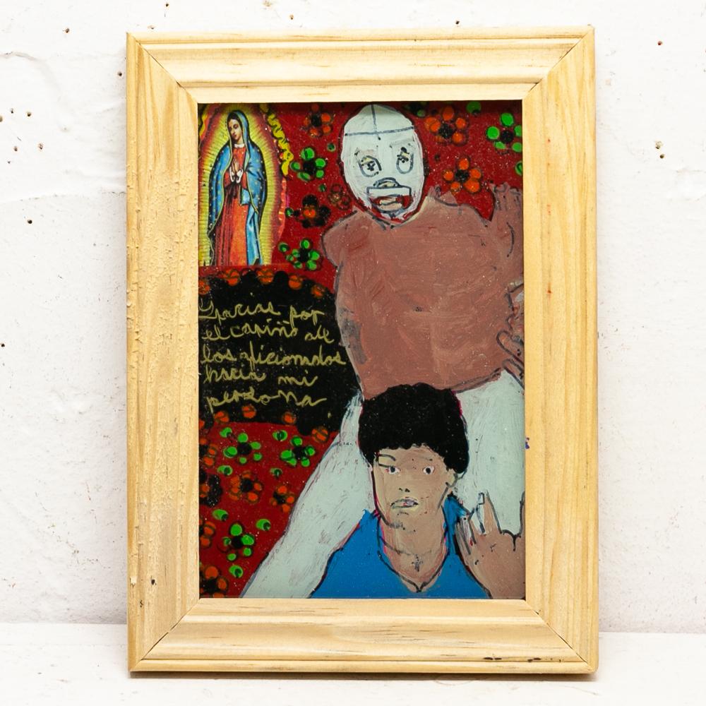 メキシコ,アンティーク,ビンテージ,インテリア,壁掛け,壁飾 ,マリア,ポスター,絵画,アート,ストリートアート,マヌエル,メキシコアーティスト,メキシコアート