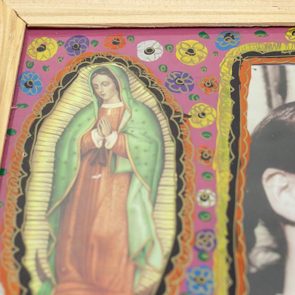 メキシコ,アンティーク,ビンテージ,インテリア,壁掛け,壁飾り,マリア,ポスター,絵画,アート,ストリートアート,マヌエル,フリーダ・カーロ,PADメキシコ,メキシコ雑貨,アーティスト,メキシコのアーティスト,メキシコアート,マヌエルバウンレン,手作りの額,ガラスアート