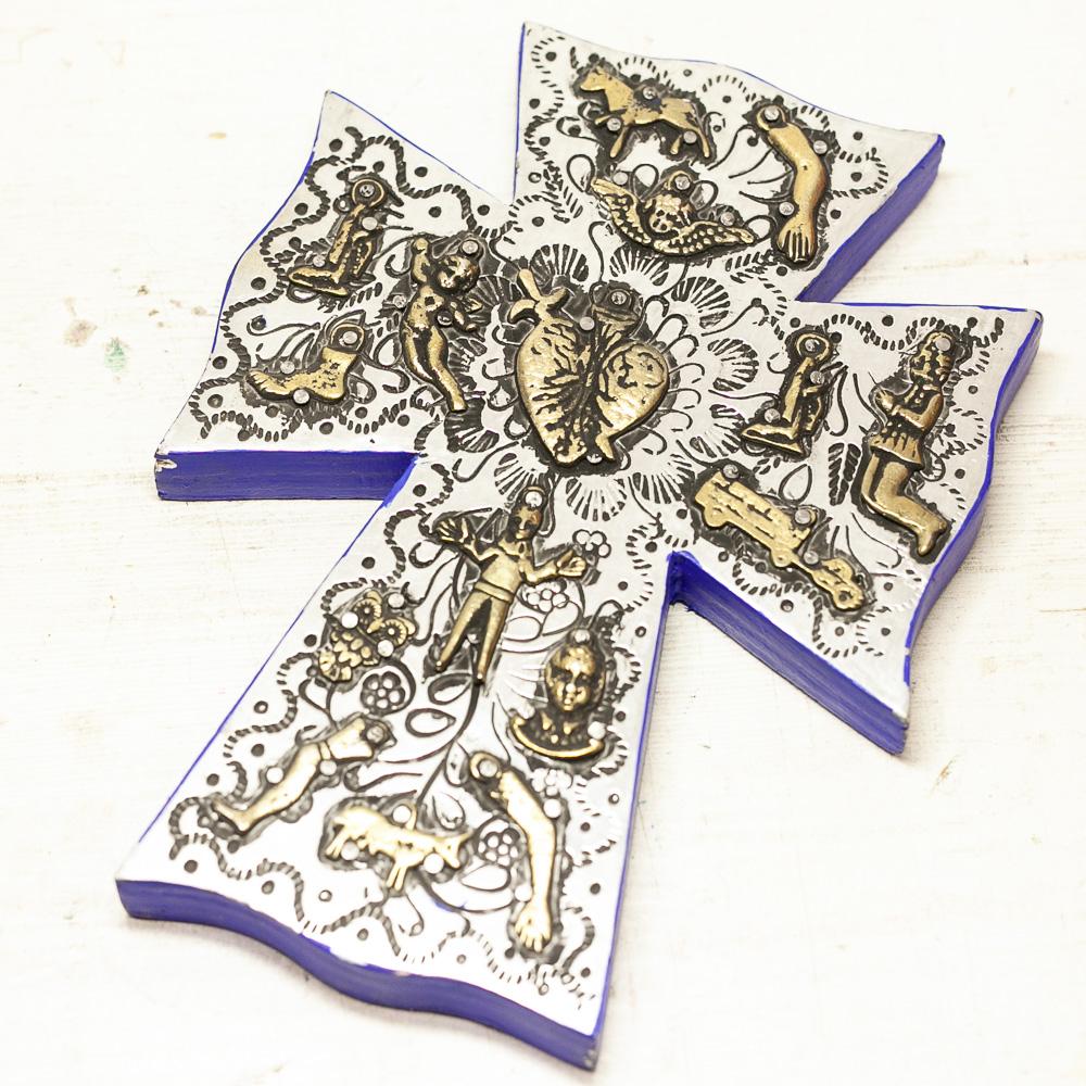 """""""クロス壁飾り,インテリアクロス,十字架,壁掛け,飾り,メキシコ"""