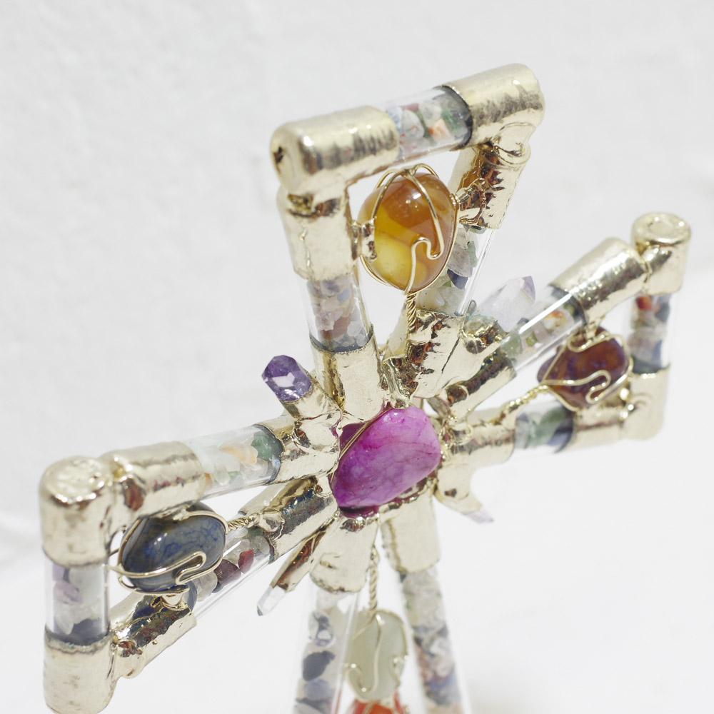 十字架置物,クロス,魔除け,クロスの置物,七大天使,ペン,天然石ペン,PAD,メキシコ雑貨,幸運ペン,石,インテリア天然石,メキシコ,インテリア,お守り