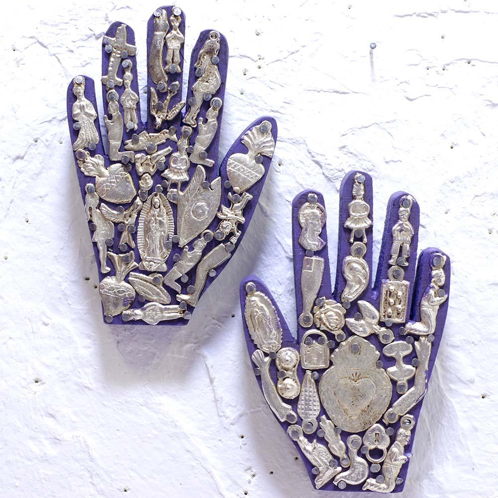 """""""ミチョシリーズマノ,ミチョシリーズ,手,マノ,ハンド,手のインテリア,ミラグロ壁掛け,ミラグロ,壁掛け,飾り,メキシコ,手作り,ハンドメイド,インテリア,インテリア雑貨,壁飾り,メキシコ雑貨,メキシコ雑貨PAD,PADmexico,pad,メキシコの壁飾り,お守り,ミラグロチャーム"""""""