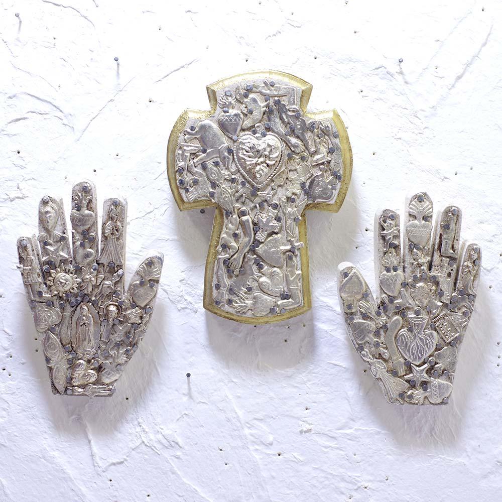 """""""ミチョシリーズ,手,マノ,ハンド,手のインテリア,ミラグロ壁掛け,ミラグロ,壁掛け,飾り,メキシコ,手作り,ハンドメイド,インテリア,インテリア雑貨,壁飾り,メキシコ雑貨,メキシコ雑貨PAD,PADmexico,pad,メキシコの壁飾り,お守り,ミラグロチャーム"""""""