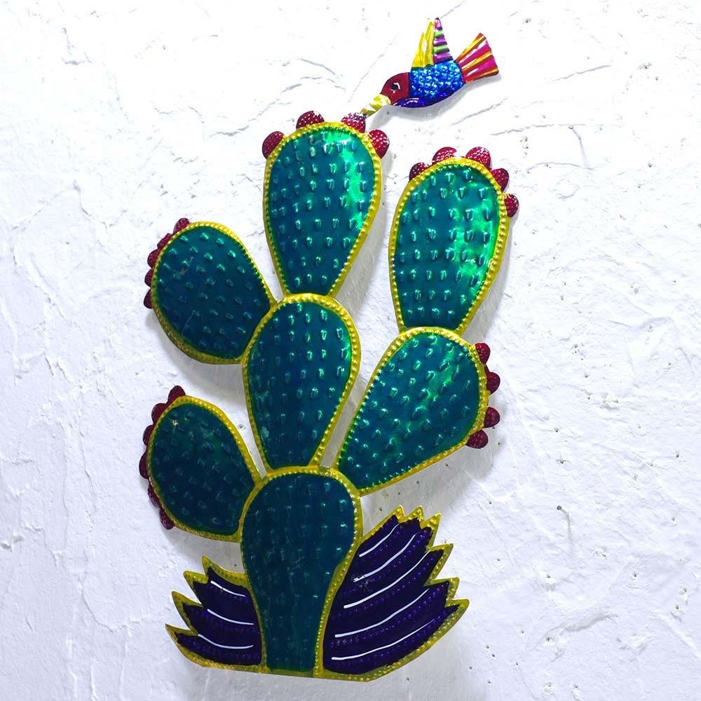 """""""サボテン,カクタス,ハチドリ,オハラタ,ブリキ,ブリキ壁掛け,サボテン壁掛け,ブリキ壁飾り,壁飾り,壁掛け,デコレーション,タコス,タコスパーティ,インテリア,デコレーション,メキシコ雑貨,メキシコ雑貨PAD"""""""
