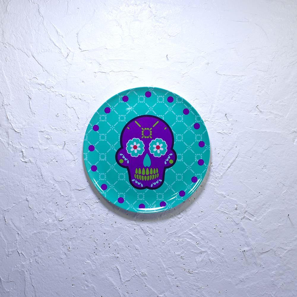 """""""カラベラ,骸骨,ガイコツ,スカル,ドクロ,髑髏,死者の日,ハロウィン,トレイ,皿,装飾皿,壁飾り,アクセサリートレイ,メキシコ雑貨,メキシコ雑貨PAD"""""""