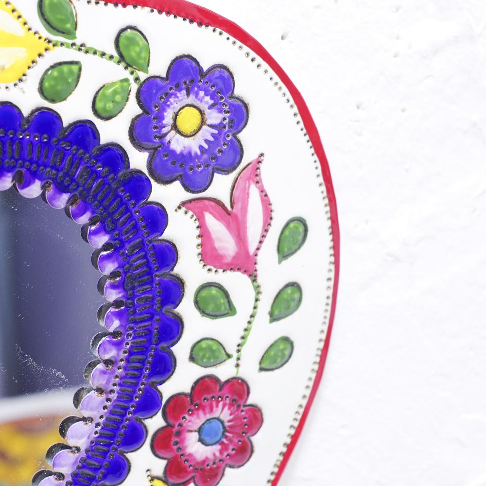 """""""鏡,ミラー,壁掛け,壁飾り,飾り,メキシコ,手作り,ハンドメイド,インテリア,インテリア雑貨,壁掛け,メキシコ雑貨,メキシコ雑貨PAD,ウォールミラー,カラフルミラー,インテリアミラー,インテリア鏡,カラフル,ハート,コラソン"""""""