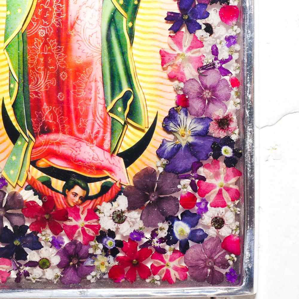"""""""ピューター,メキシカンピューター,レジン,生花,フリーダ,フリーダカーロ,フリーダ・カーロ,コラソン,ハート,壁掛け,飾り,メキシコ,手作り,ハンドメイド,インテリア,インテリア雑貨,壁飾り,メキシコ雑貨,メキシコ雑貨PAD,花柄"""""""