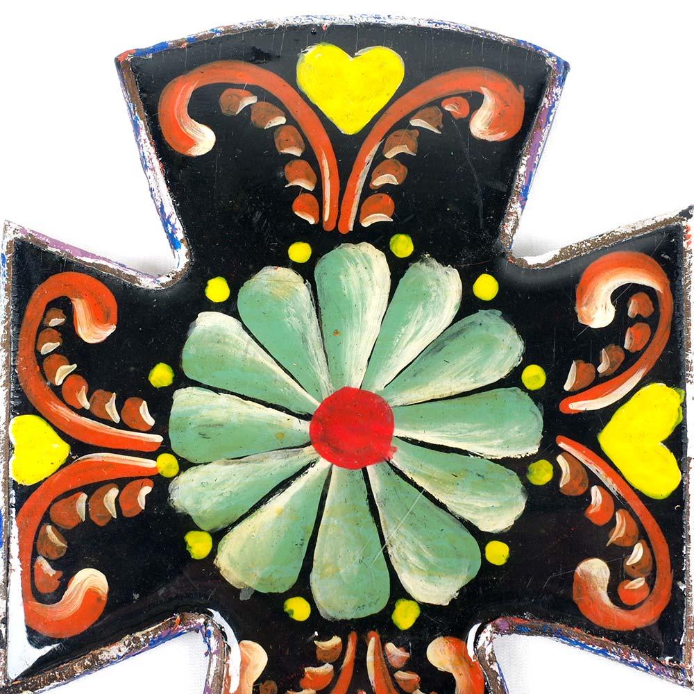 """""""""""十字架,クロス,手描き,ハンドメイド,アート,,壁掛け,壁飾り,インテリア,メキシコ雑貨,メキシコ雑貨PAD"""""""