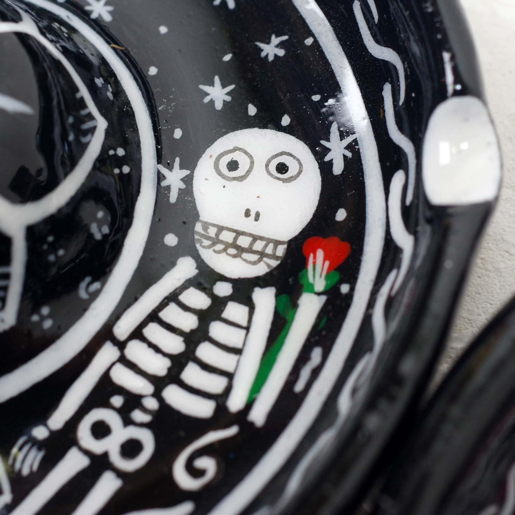 """""""ガイコツ灰皿,灰皿,アッシュトレイ,アッシュトレー,小物入れ,トレイ,お香立て,骸骨,スカル,がいこつ,カラベラ,メキシコ雑貨,メキシコ雑貨PAD"""""""