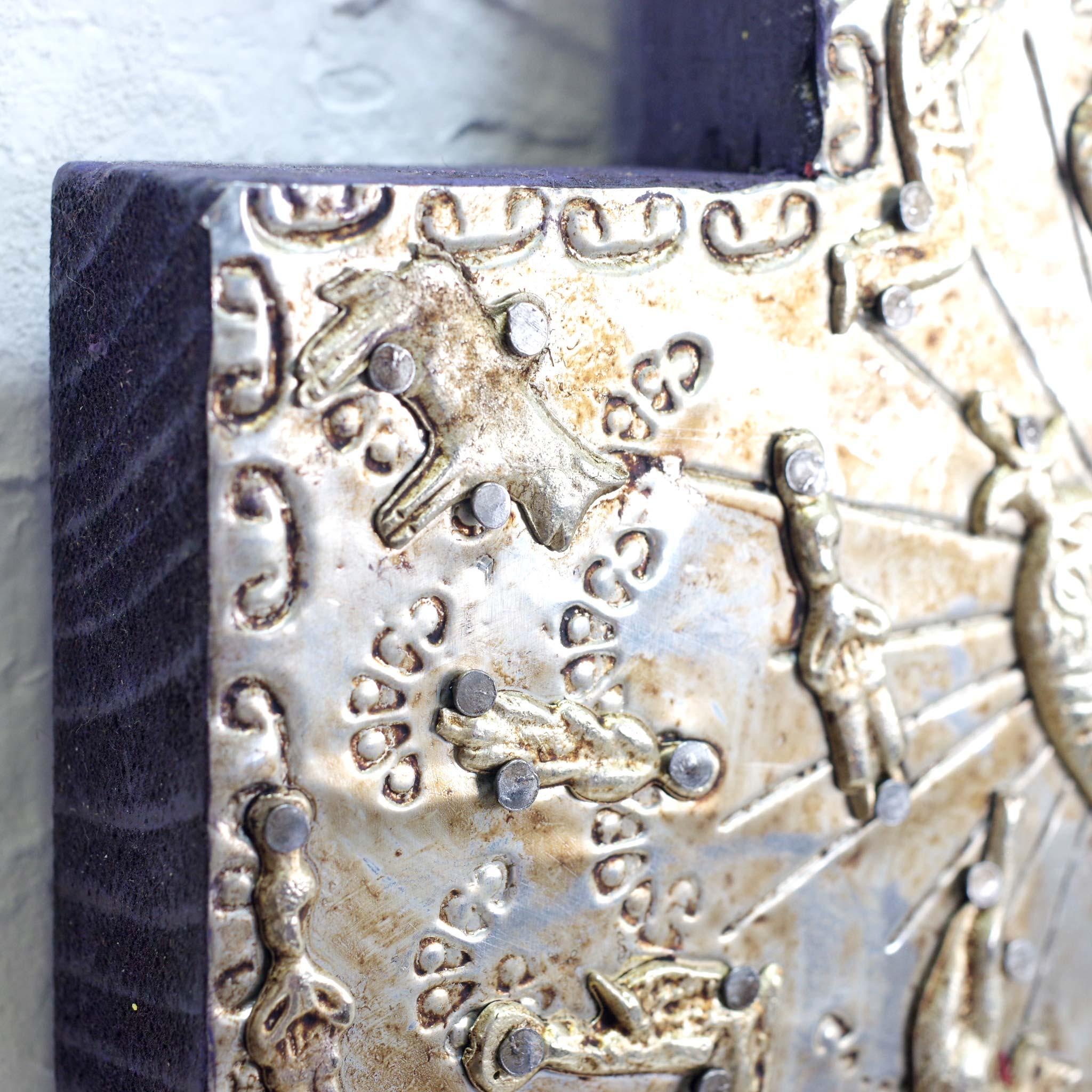 """""""アルミクロス,アルミ,ミラグロクロス,ミラグロ,十字架,クロス,壁掛け,壁飾り,インテリア,メキシコ雑貨,メキシコ雑貨PAD"""""""