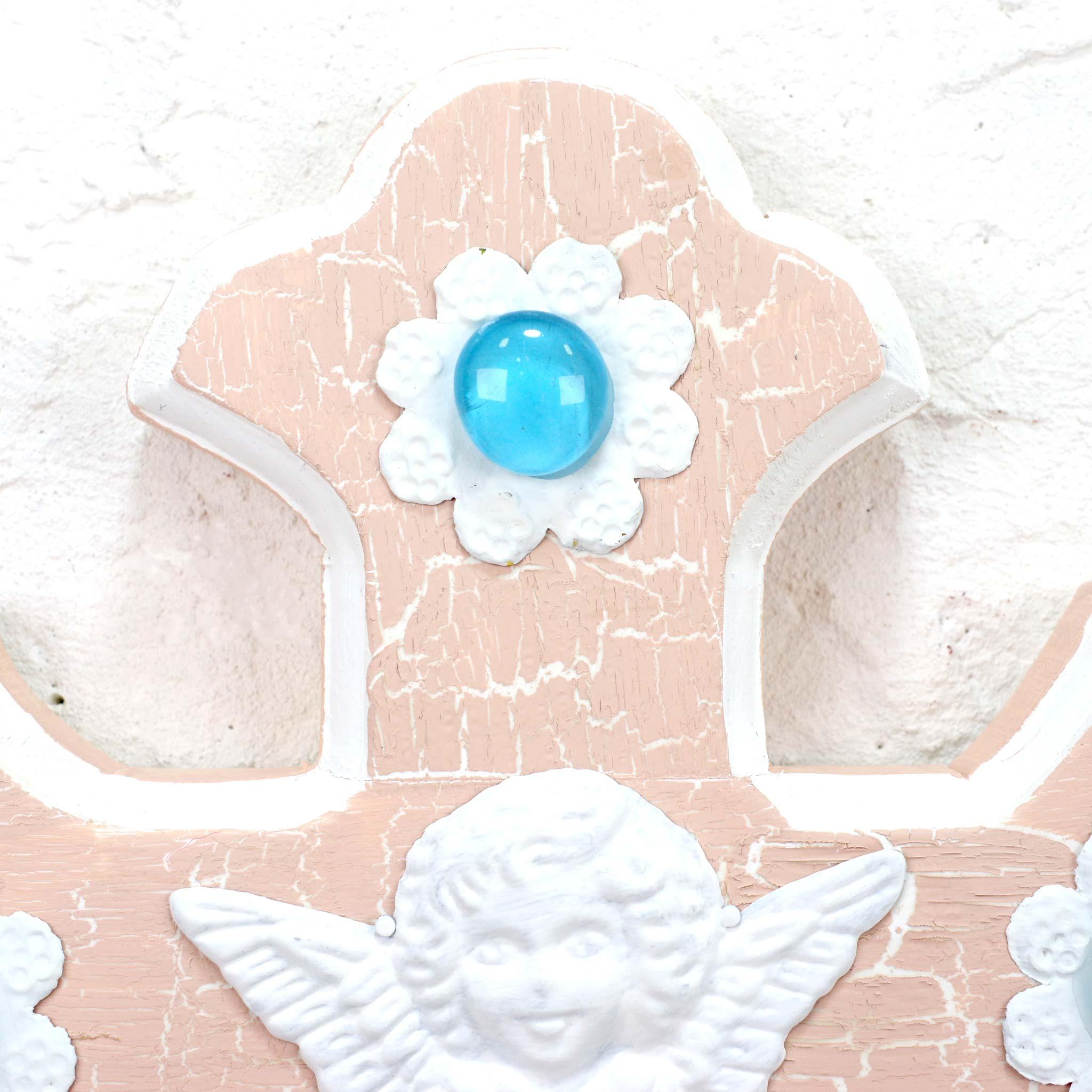 """""""パステルクロス,ビンテージクロス,diablaクロス,diabla2021feb,天使クロス,エンジェルクロス,天使,エンジェル,クロス,十字架,壁掛け,壁飾り,インテリア,メキシコ雑貨,メキシコ雑貨PAD"""""""