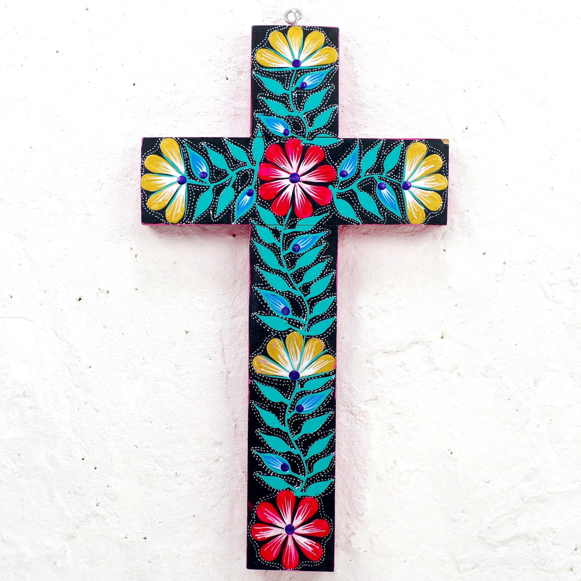 """""""クロス,十字架,壁掛け,壁飾り,アレブリヘス,アレブリヘ,カラフル,,メキシコ雑貨,メキシコ雑貨PAD"""""""