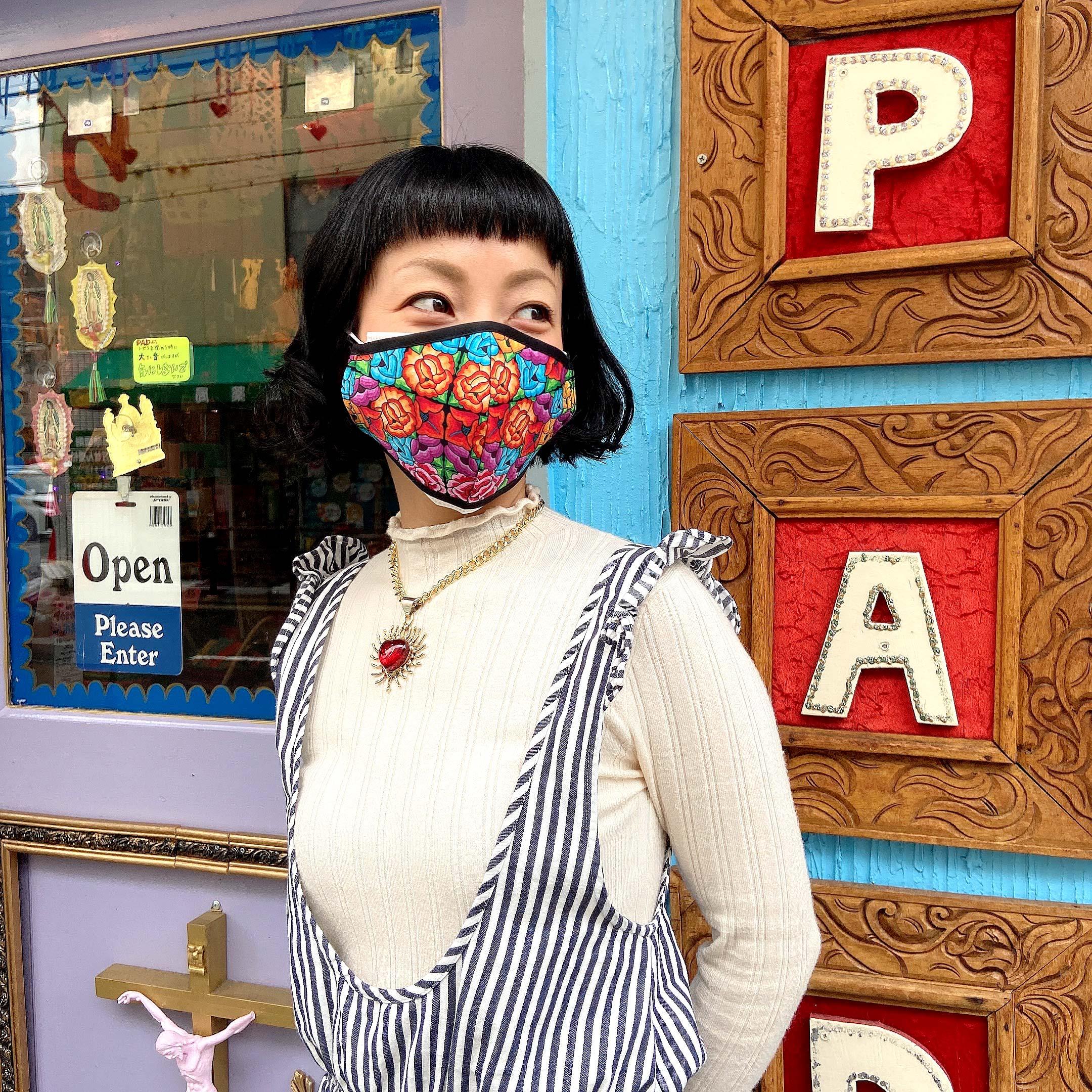 """""""マスク,マスクカバー,衛生用マスク,布マクス,エコマスク,おしゃれ,洗える,ウォッシャブル,繰り返し使えるマスク,メキシコ雑貨,メキシコ雑貨PAD"""""""