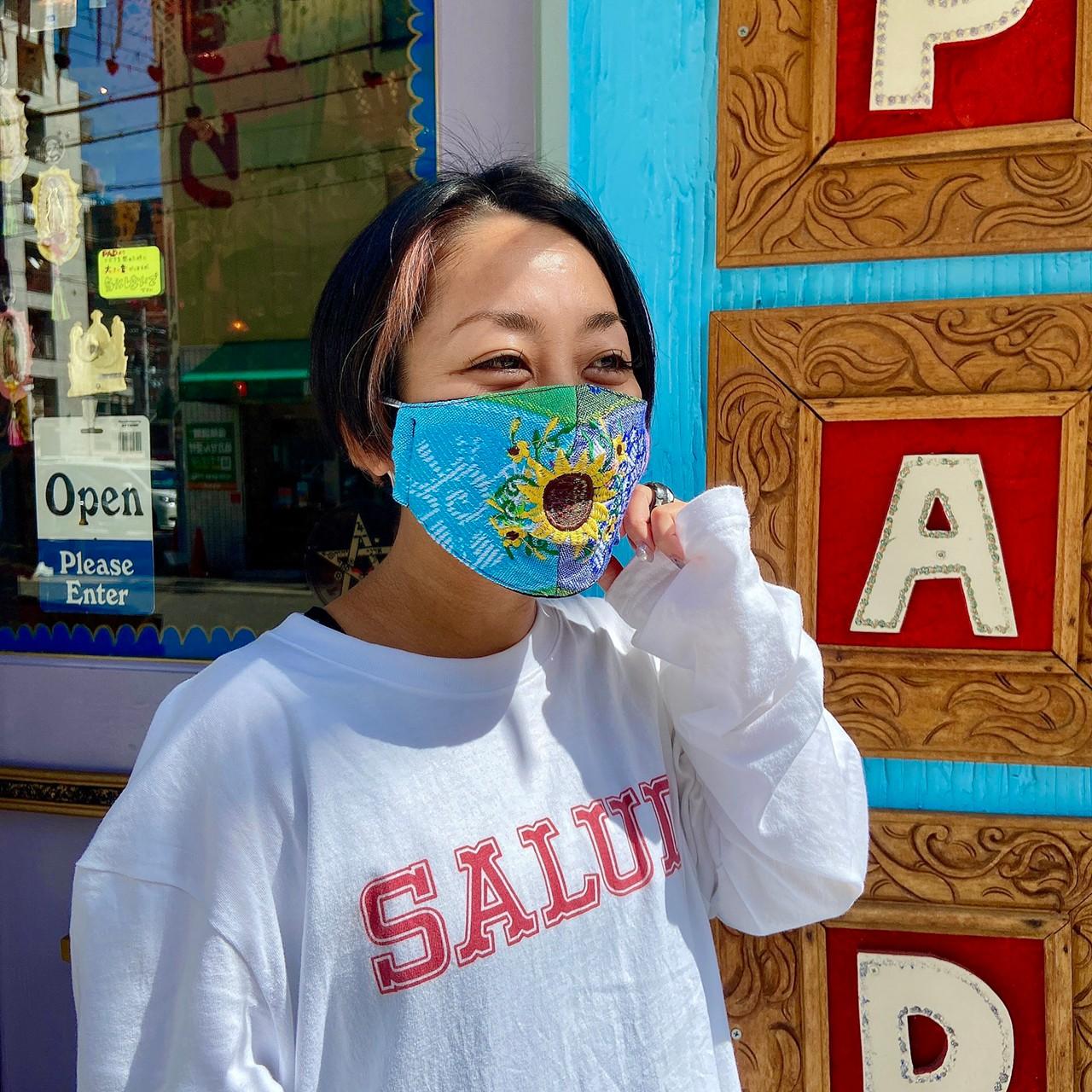 """""""マスク,衛生用マスク,布マクス,エコマスク,おしゃれ,洗える,ウォッシャブル,繰り返し使えるマスク,メキシコ雑貨,メキシコ雑貨PAD"""""""