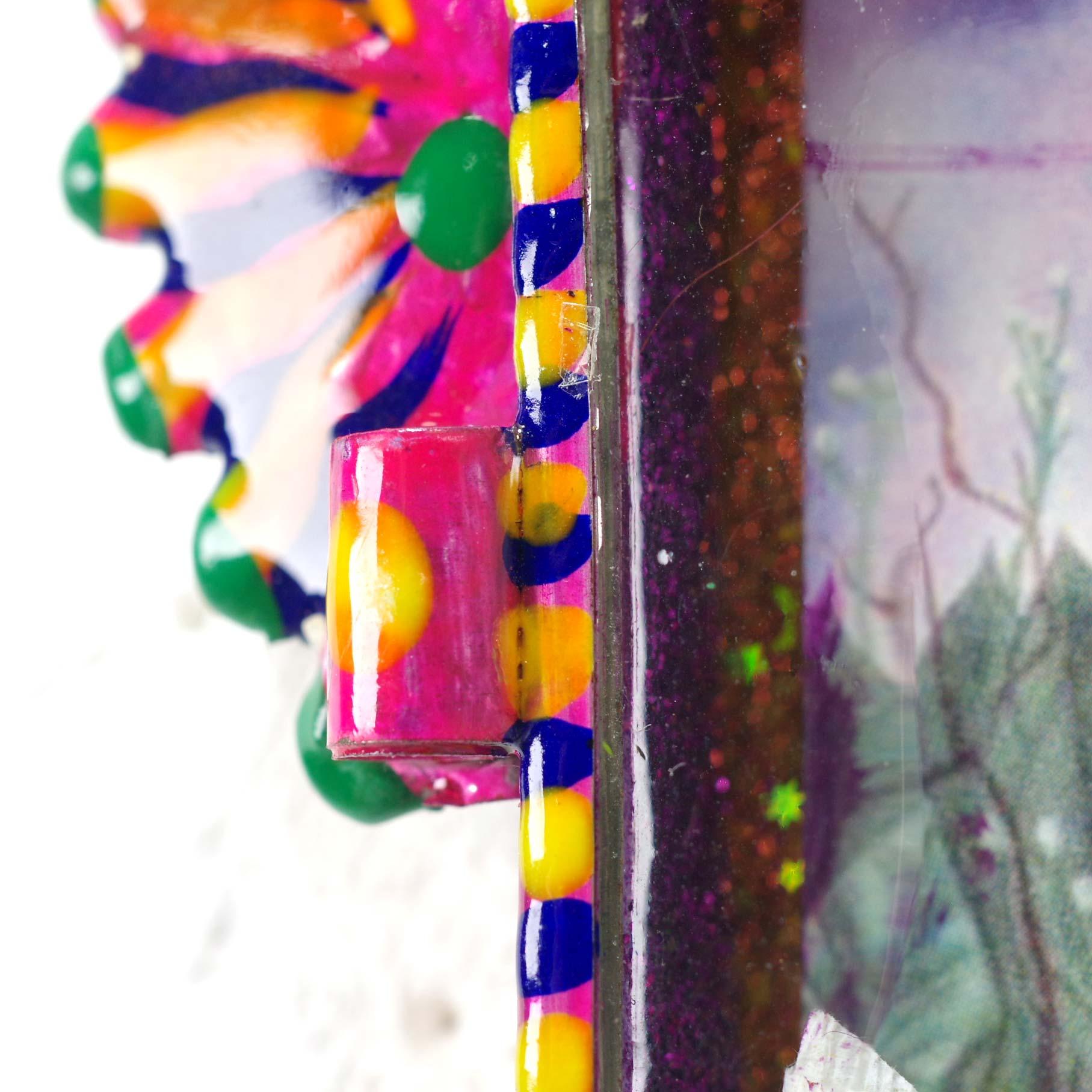 """""""ニチョ,ブリキボックス,ブリキ,箱,開く,祭壇,壁掛け,壁掛け,飾り,オーナメント,メキシコ,インテリア,インテリア雑貨"""""""