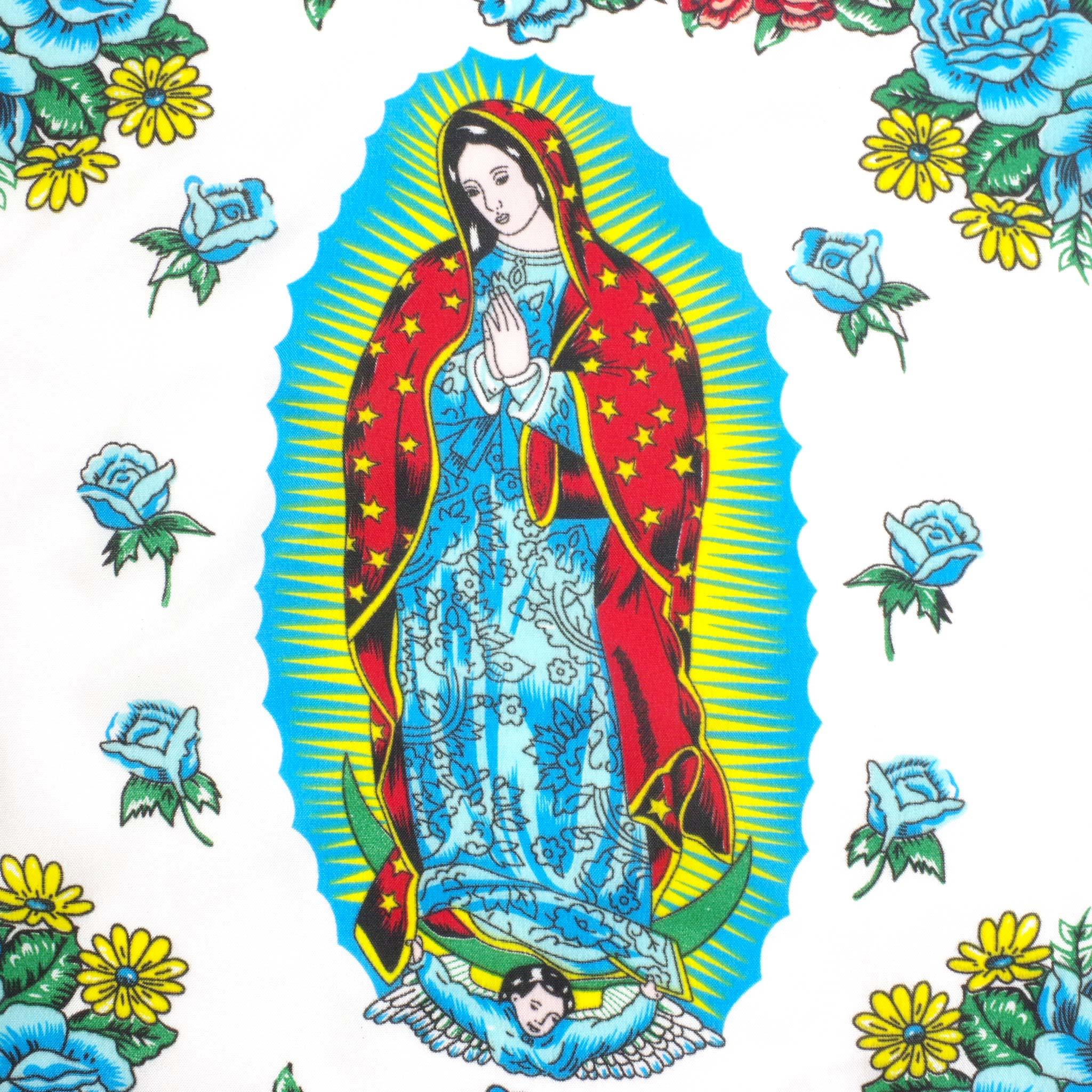 """""""マリア,グアダルーペ,マリア様,聖母,バンダナ,スカーフ,ハンカチ,BANDANA,メキシコバンダナ,メキシコのバンダナ,メキシコ柄のバンダナ,メキシコ,メキシコ雑貨,メキシコ雑貨PAD"""""""