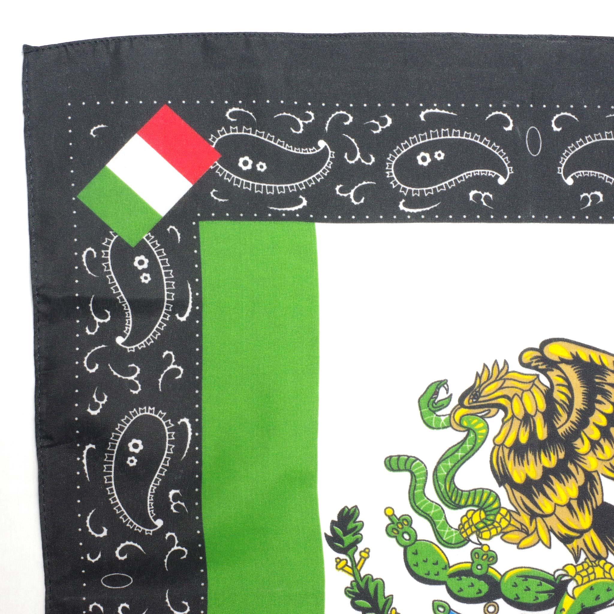 """""""鷲,蛇,ペイズリー,バンダナ,スカーフ,ハンカチ,BANDANA,メキシコバンダナ,メキシコのバンダナ,メキシコ柄のバンダナ,メキシコ,メキシコ雑貨,メキシコ雑貨PAD"""""""