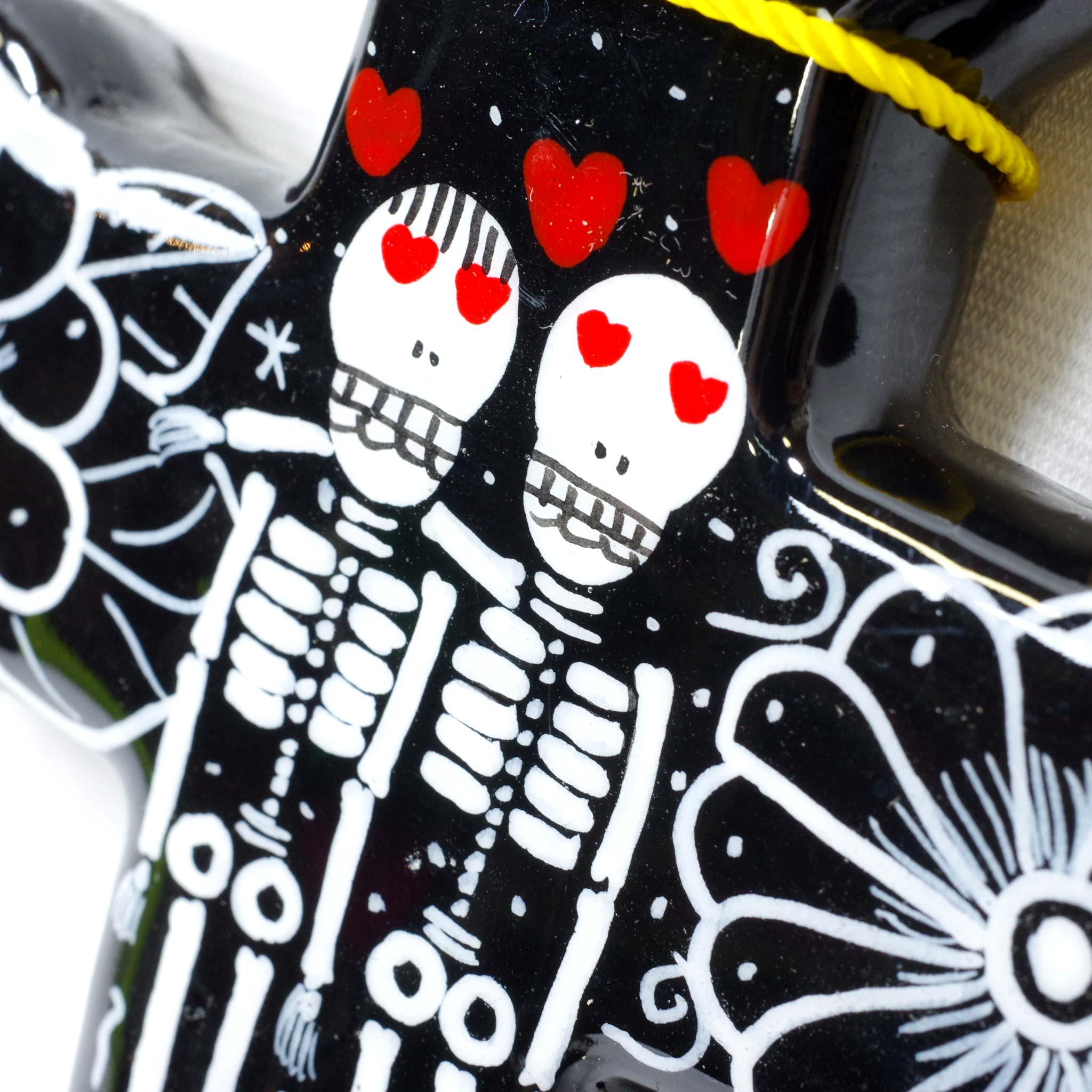 """""""ネグロカラベラシリーズ,クロス,十字架,ガイコツ,骸骨,カラベラ,スカル,ドクロ,髑髏,死者の日,壁掛け,飾り,メキシコ,インテリア雑貨,壁飾り,メキシコ雑貨,メキシコ雑貨PAD"""""""