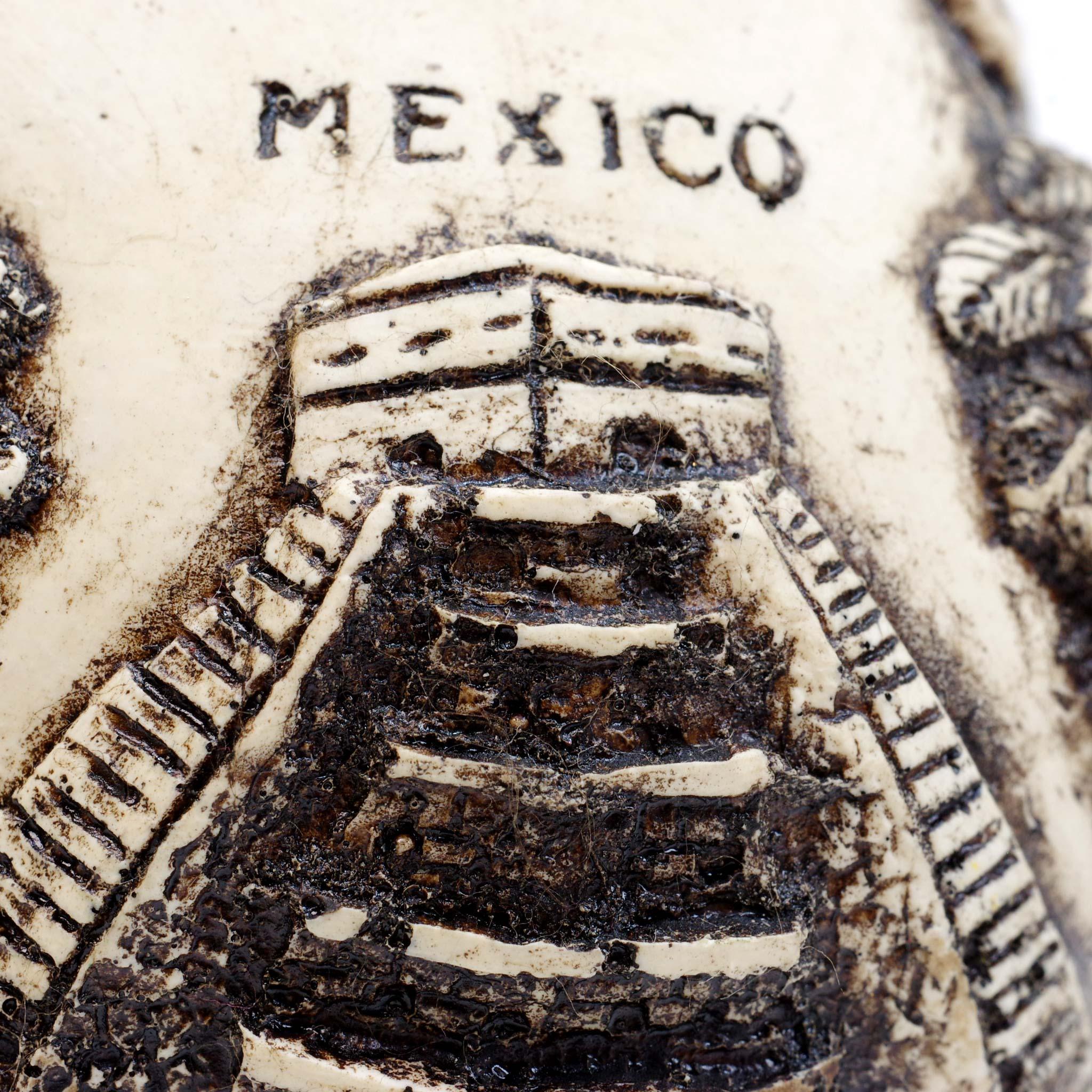 """""""アステカスカルヘッド,アステカ,マヤ,ガイコツ,骸骨,カラベラ,スカル,ドクロ,髑髏,死者の日,置物,オブジェ,飾り,メキシコ,インテリア雑貨,メキシコ雑貨,メキシコ雑貨PAD"""""""