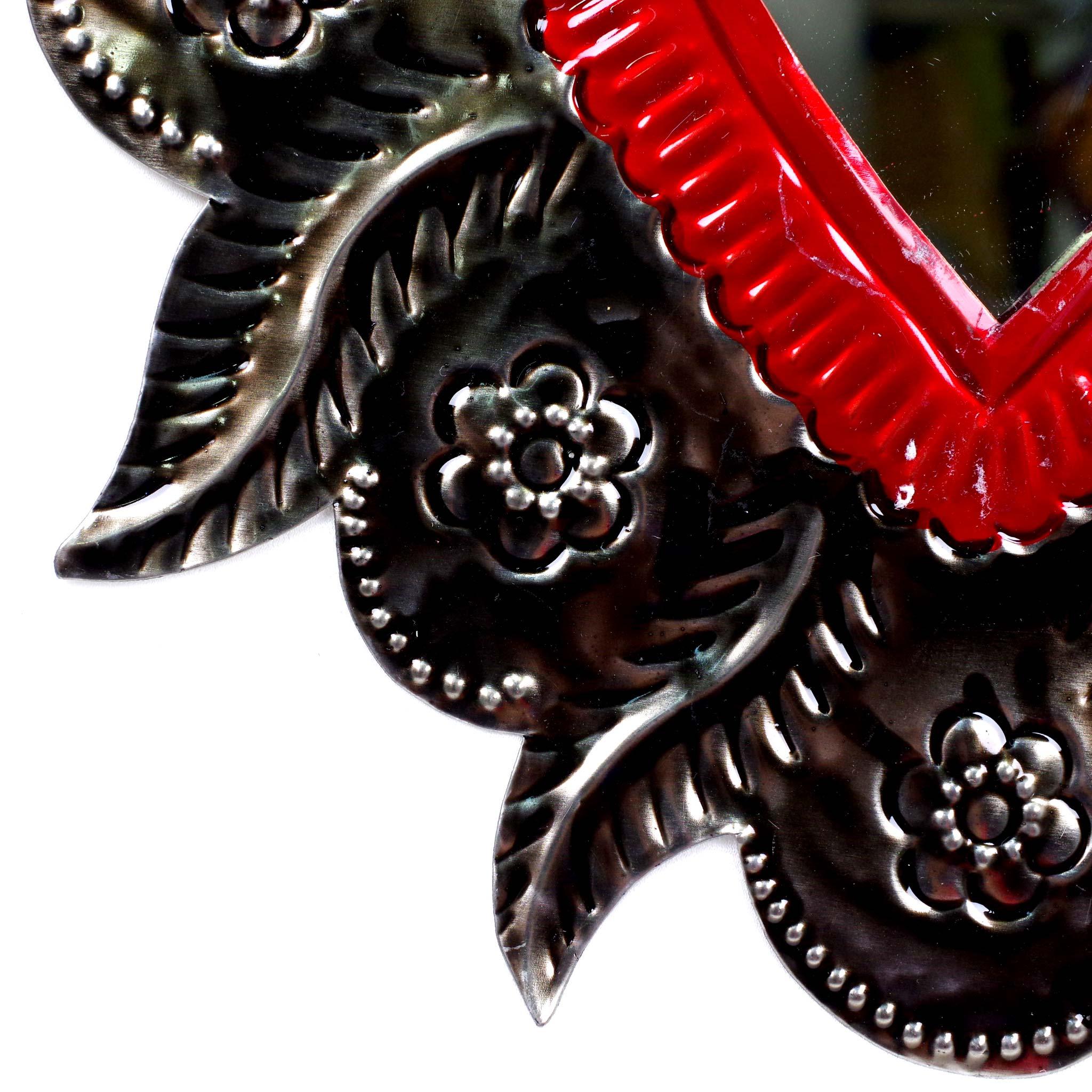 """""""オハラタミラーRDL,コラソン,心臓,燃えるハート,ミラー,鏡,オハラタ,オアハカ,インテリア,メキシコのハート,コラソンミラー,ハートミラー,ハートのインテリア,ハートの壁飾り,ハートの壁掛け,インテリア,メキシカンハート,壁掛け,飾り,メキシコ,インテリア雑貨,壁飾り,メキシコ雑貨,メキシコ雑貨PAD"""""""
