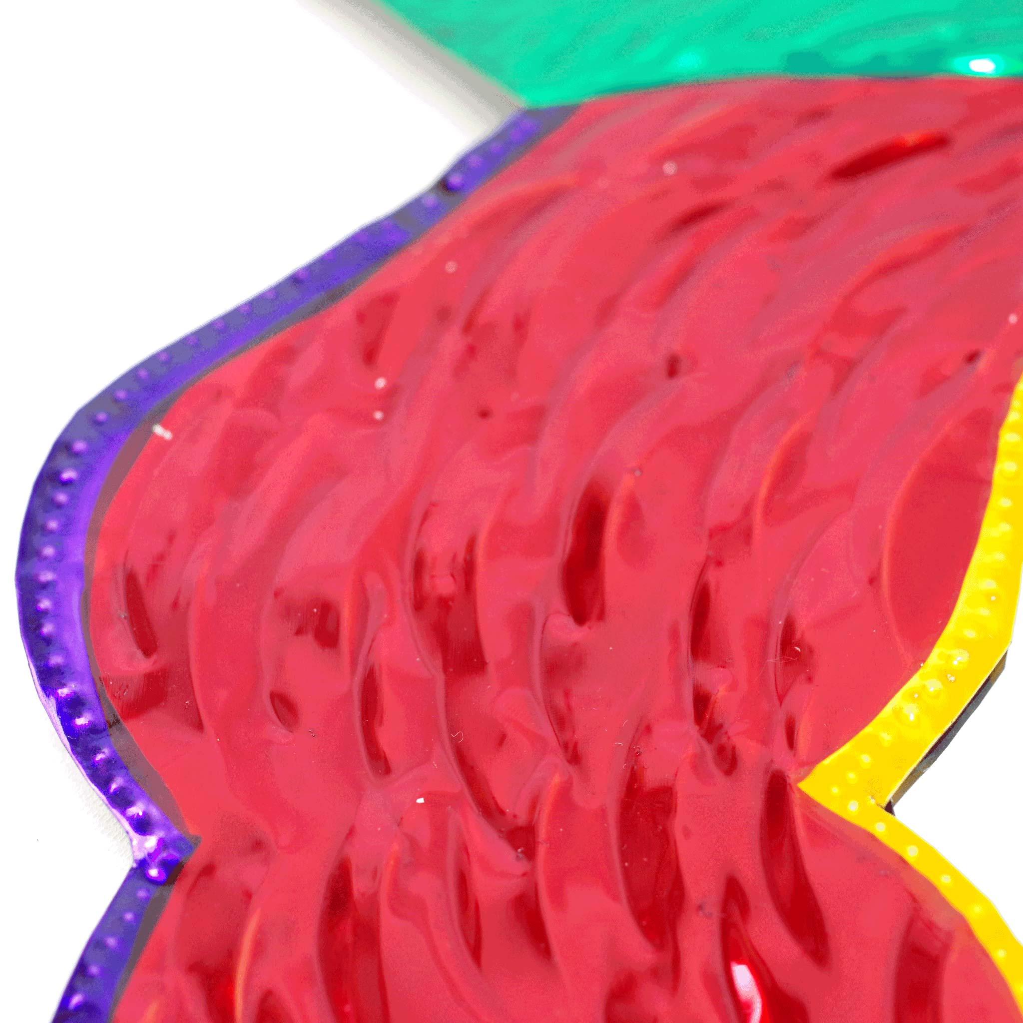 """""""オハラタミラーmot,バラ,薔薇,お花,花,フラワー,ミラー,鏡,オハラタ,オアハカ,インテリア,壁掛け,飾り,メキシコ,インテリア雑貨,壁飾り,メキシコ雑貨,メキシコ雑貨PAD"""""""